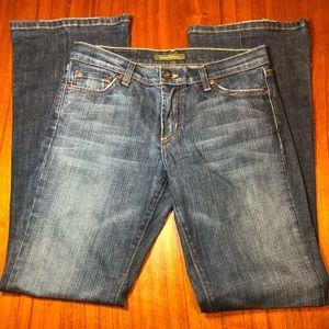 David Kahn Nikki bedazzled boot cut jeans cut #350